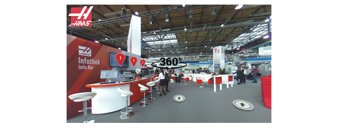 HAAS AUTOMATION: Visita virtual 360° a un stand de Haas Automation
